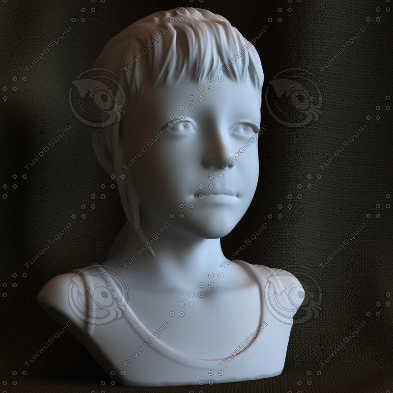 3d printable print sculpture sarah