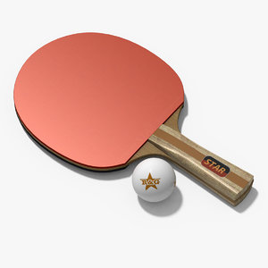 3d table tennis racket ball