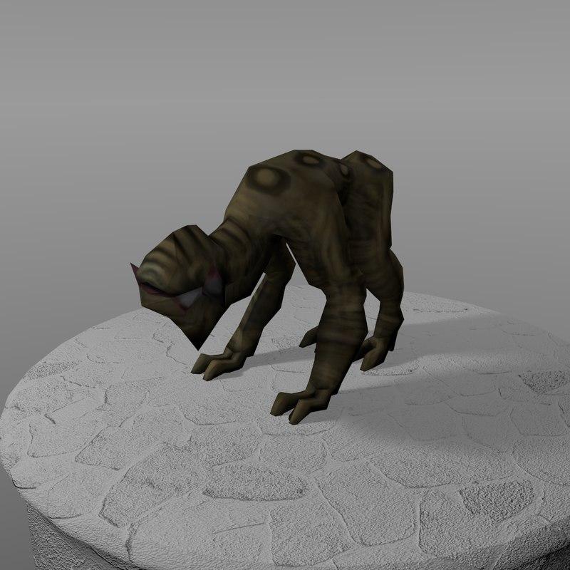 creature howler 3d model