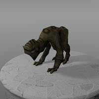 creature howler 3d model