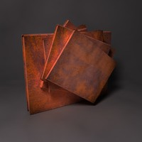 3d model rusty books sculpture