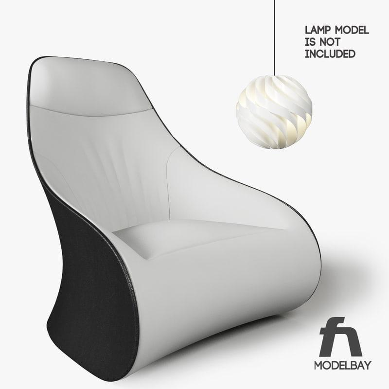 derby chair zanotta 3d model