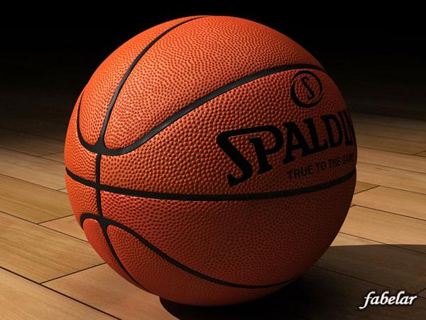 spalding basketball ball 3d model