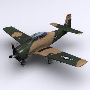 3ds north american t-28 trojan