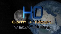 earth moon space star 3d max