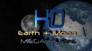 earth moon space star 3d max