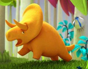 3d model cartoon triceratops