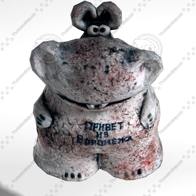 hippo ceramic 3d model