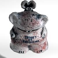 hippo ceramic