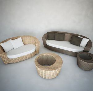 3d model outdoor sofas tables furniture