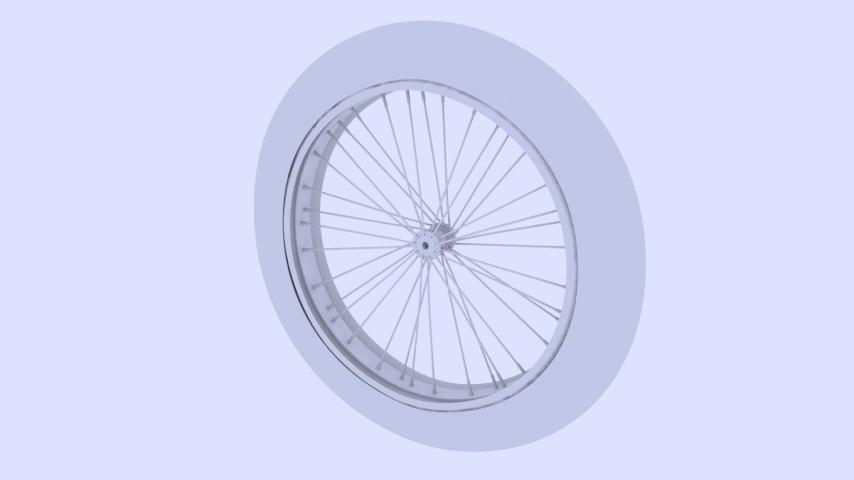 bicycle motorcycle wheel 3d model