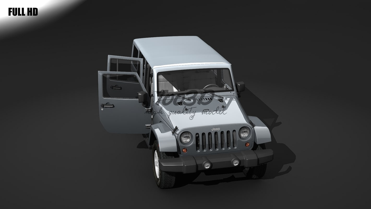 wrangler interior 3d max
