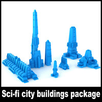 Sci-fi city buildings package