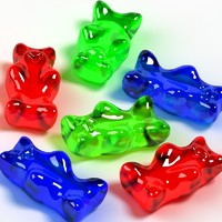 3d gum bear gummy model