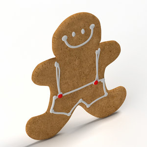 3d model gingerbread ginger bread