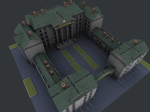 3d university constructor model