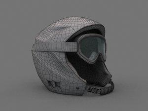 3d model - ski helmet