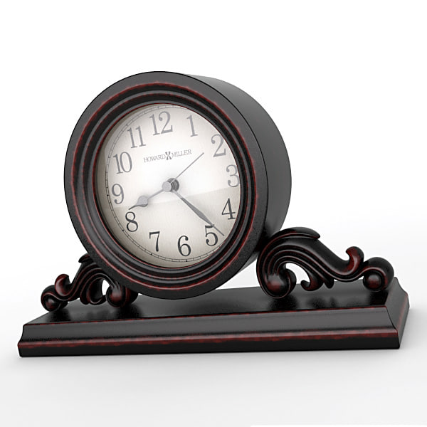 3d analog mantel clock model