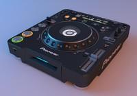 pioneer - cdj 1000mk3 3d 3ds