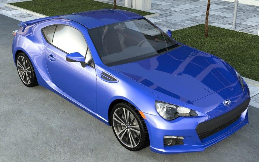 3d subaru brz model