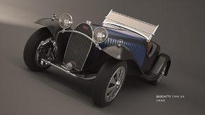 bugatti type 55 car 3d max