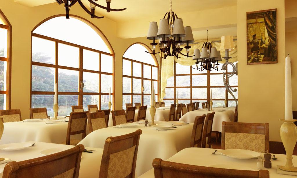 3d classic restaurant model