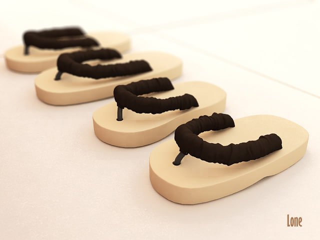 3d model sandals walking
