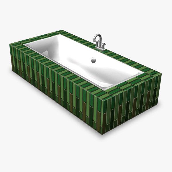 3d bathtub retro model