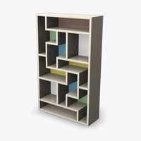 Bookcase retro 3DGM