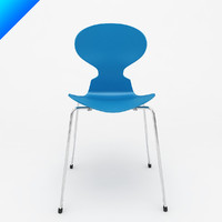 3d ant chair arne jacobsen model