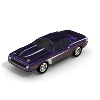 1970 Plymouth AAR Cuda - Low Poly