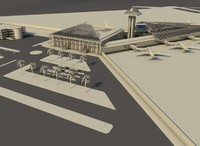 airport control tower 3d c4d