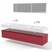 Antonio Lupi Segno Modern Bedroom Furniture Double Sink Lavatory