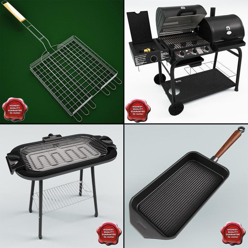 3d model barbecue v2