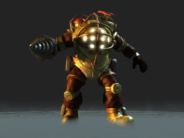 bioshock big daddy 3d model