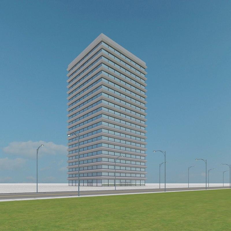 new skyscraper 23 3d max