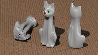 ornament cat 3d model