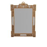 Chelini Classic Carved Leaf Rectangular Wall Mirror