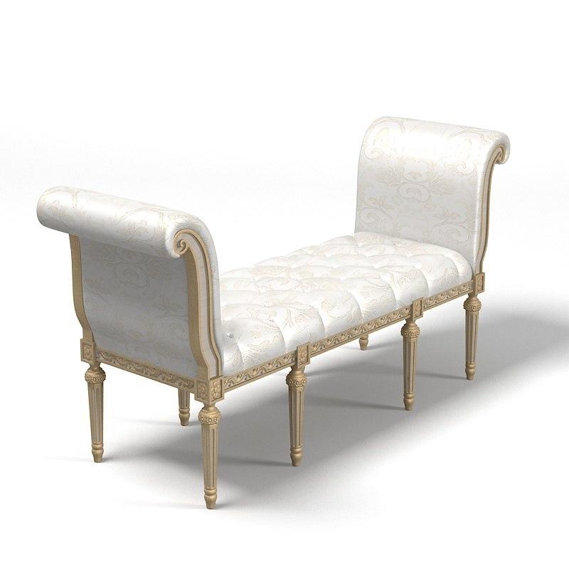 Bedroom ottoman 3d model classic bedroom ottoman 3d model. Bedroom Ottoman Bench. Home Design Ideas