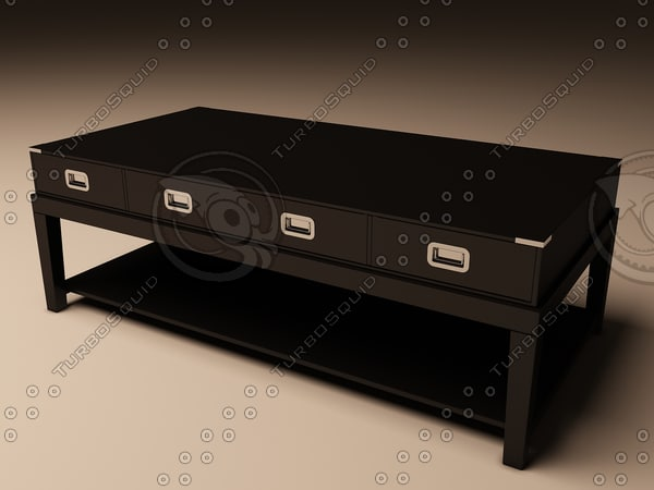 3d model eichholtz table coffee military