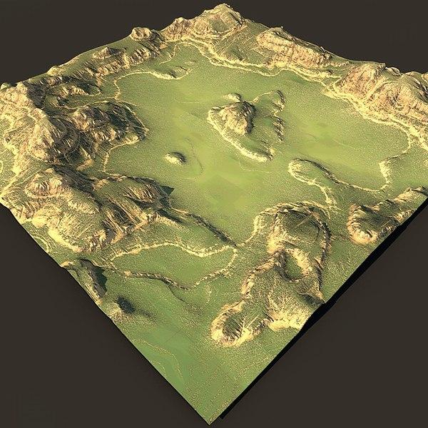 3d model of terrain