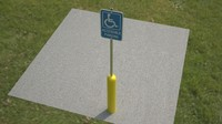 handicap sign 3d model