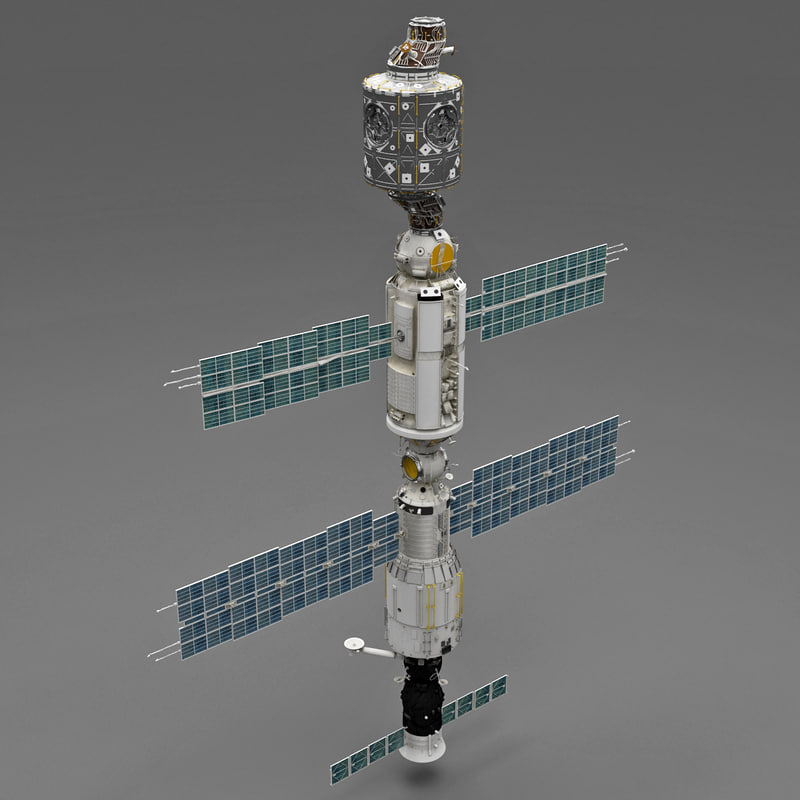 3d international space station iss
