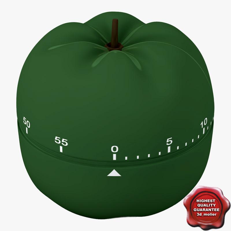 3d max kitchen timer pepper