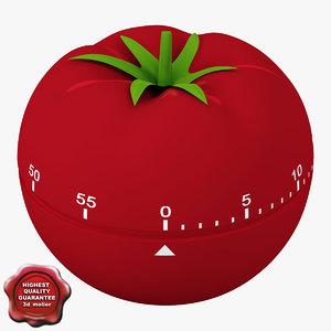 3d model of kitchen timer tomato