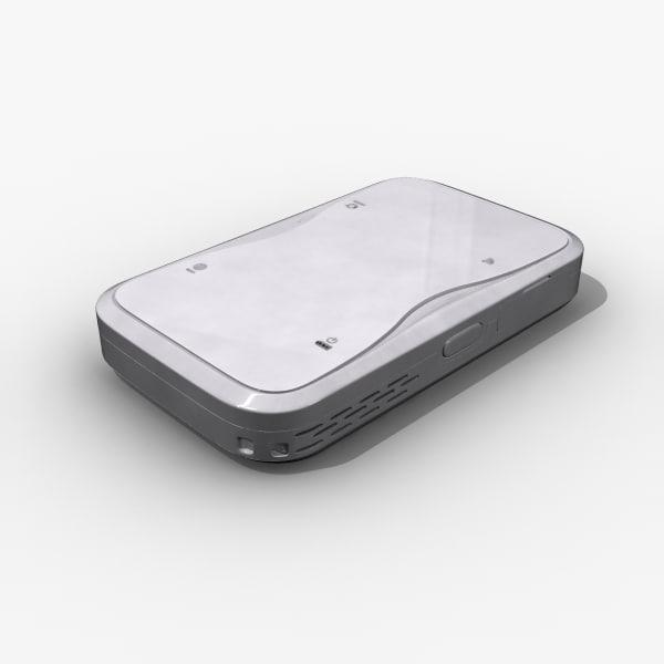 3d model wireless wimax modem