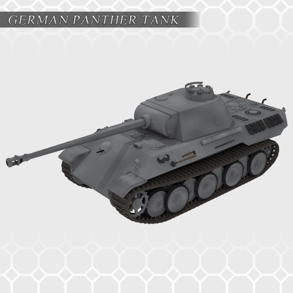 3ds max german panther tank