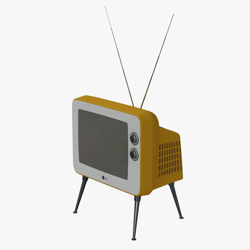 retro classic tv lg 3d c4d