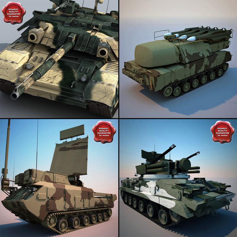 russian tanks v2 3d 3ds
