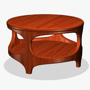 3d end table